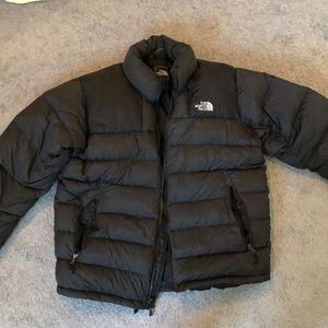 Men's black North Face puffer jacket